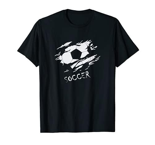 Soccer Fußball. Geniales Design mit Ball. Hingucker T-Shirt